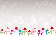 Christmas background with snowman. Background christmas and happy new year Royalty Free Stock Photography
