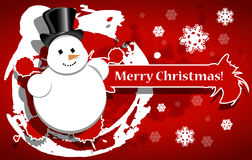 Christmas background with a snowman Stock Photography