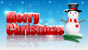 Christmas background with snowman. Stock Photo