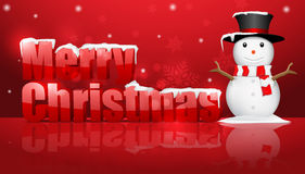Christmas background with snowman. Stock Photos