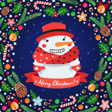 Christmas  background with snowmen Royalty Free Stock Photos