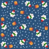 Christmas background snowmen Stock Photo