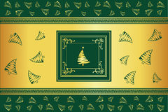 Christmas background with some tree Royalty Free Stock Images