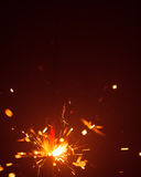 Christmas background with sparkler Royalty Free Stock Photo