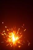 Christmas background with sparkler light Stock Photos