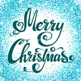Christmas background with sparkles. Festive Christmas background with sparkles. Merry Christmas - hand lettering. Vector Stock Photography