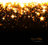 Christmas background with sparkling stars and flashes