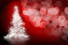 Christmas Background with sparkling tree Stock Photo