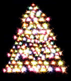 Christmas background with sparks Royalty Free Stock Photos