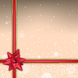 Christmas background with sparks and red bow Royalty Free Stock Image