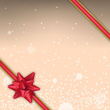 Christmas background with sparks and red bow Stock Photo