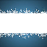 Christmas background with speech bubble Royalty Free Stock Photography
