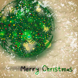 Christmas background with spruce branches in vintage style Royalty Free Stock Photo