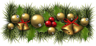 Christmas background with spruce branches Stock Photography