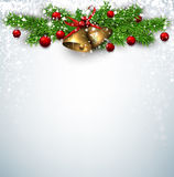 Christmas background with spruce branches Stock Photos