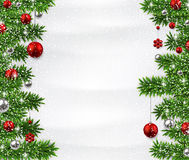 Christmas background with spruce branches. Stock Photography