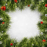 Christmas background with spruce branches. Royalty Free Stock Photo