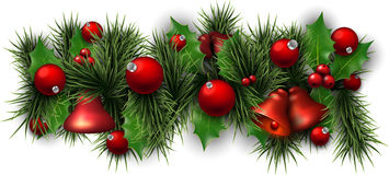 Christmas background with spruce branches Stock Images