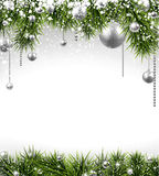 Christmas background with spruce branches Royalty Free Stock Photos