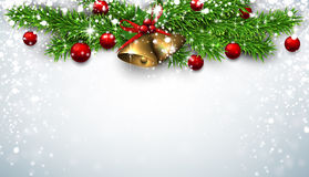 Christmas background with spruce twigs Royalty Free Stock Images