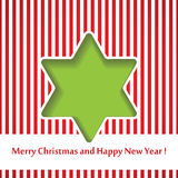 Christmas background star cutted from paper on red. Background. Vector illustration. Greeting card with Christmas star Royalty Free Stock Images
