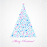Christmas background with star fir-tree. Christmas background with star tree. Invitation card EPS10 Stock Photo