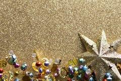 Christmas background. Christmas background with star. Christmas greeting card Stock Photo