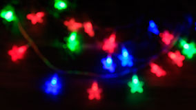 Christmas background with star lights Stock Photo