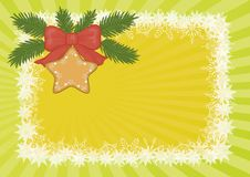 Christmas background with star and snowflakes Stock Photos