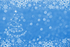 Christmas Background Star Tree Stock Photography