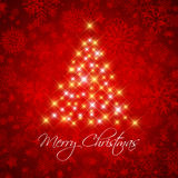 Christmas background with starry tree Stock Photos