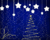 Christmas background with stars. Royalty Free Stock Images