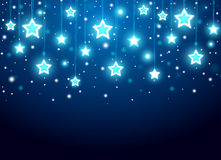 Christmas background with stars Stock Photography