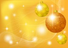 Christmas background with stars and balls Stock Images