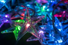 Christmas background with stars Stock Images