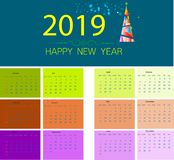 Christmas Background with Stars Christmas banner. Background Xmas design happy new year 2019. 2019 calendar, Background Xmas design happy new year 2019 vector illustration