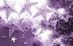 Christmas background with stars and color Royalty Free Stock Photos