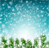 Christmas background with stars and lights stock illustration
