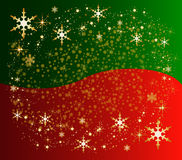 Christmas background with stars and present Stock Photography
