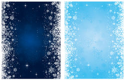 Christmas background with stars and snowflakes Stock Photos