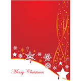 Christmas background with stars and stripes Stock Image
