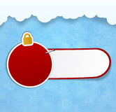 Christmas background with sticker. Royalty Free Stock Photography