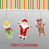 Christmas background sticker Stock Photography