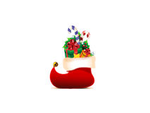 Christmas background. With Christmas stocking Royalty Free Stock Image