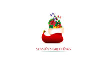 Christmas background. With Christmas stocking Royalty Free Stock Photos