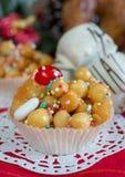 Christmas background struffoli Stock Photos