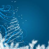 Christmas background with stylized Christmas tree Royalty Free Stock Photography