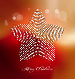 Christmas background with stylized embellishment Royalty Free Stock Photography