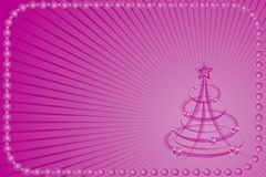 Christmas background with stylized tree, vector Stock Image