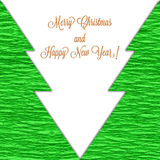 Christmas background with stylized trees Stock Images